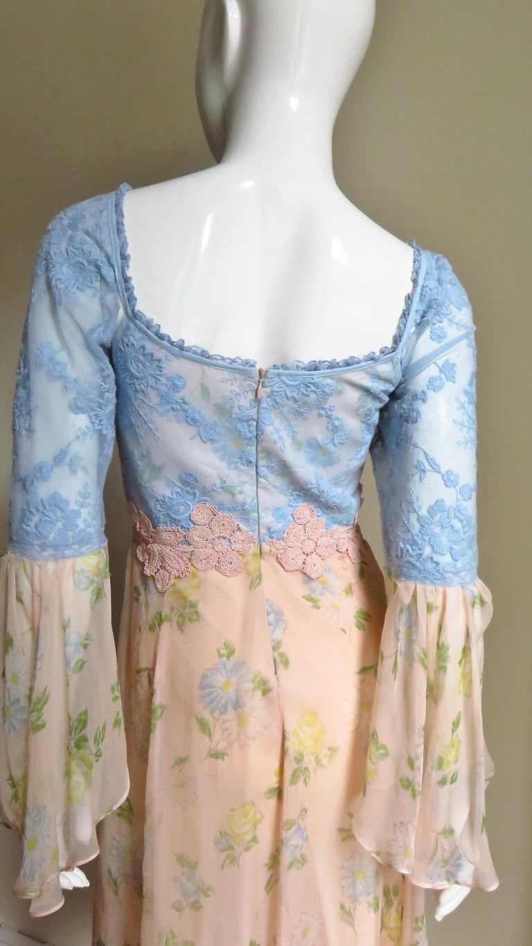 Lolita Lempicka Silk Dress with Lace  For Sale 6