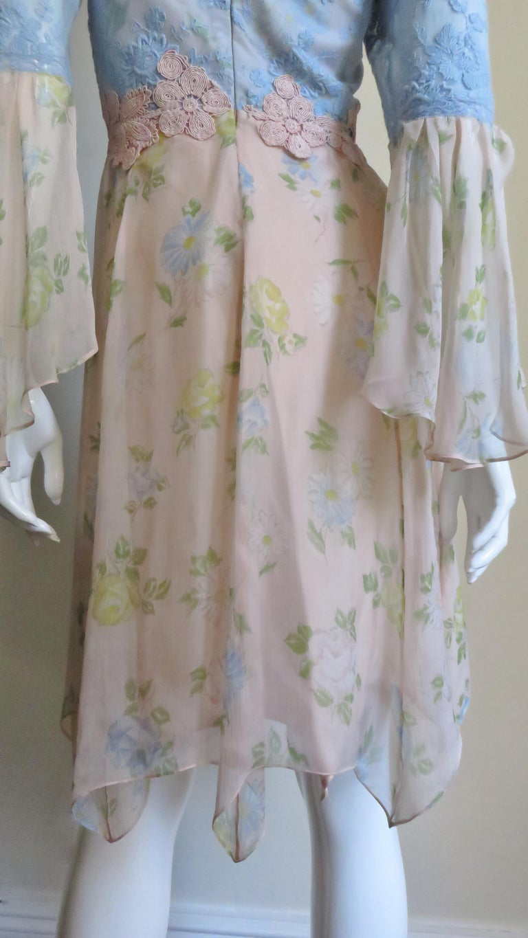 Lolita Lempicka Silk Dress with Lace  For Sale 8