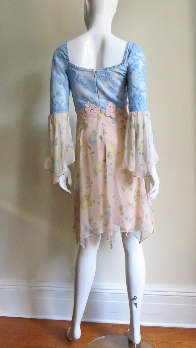 Lolita Lempicka Silk Dress with Lace  For Sale 9