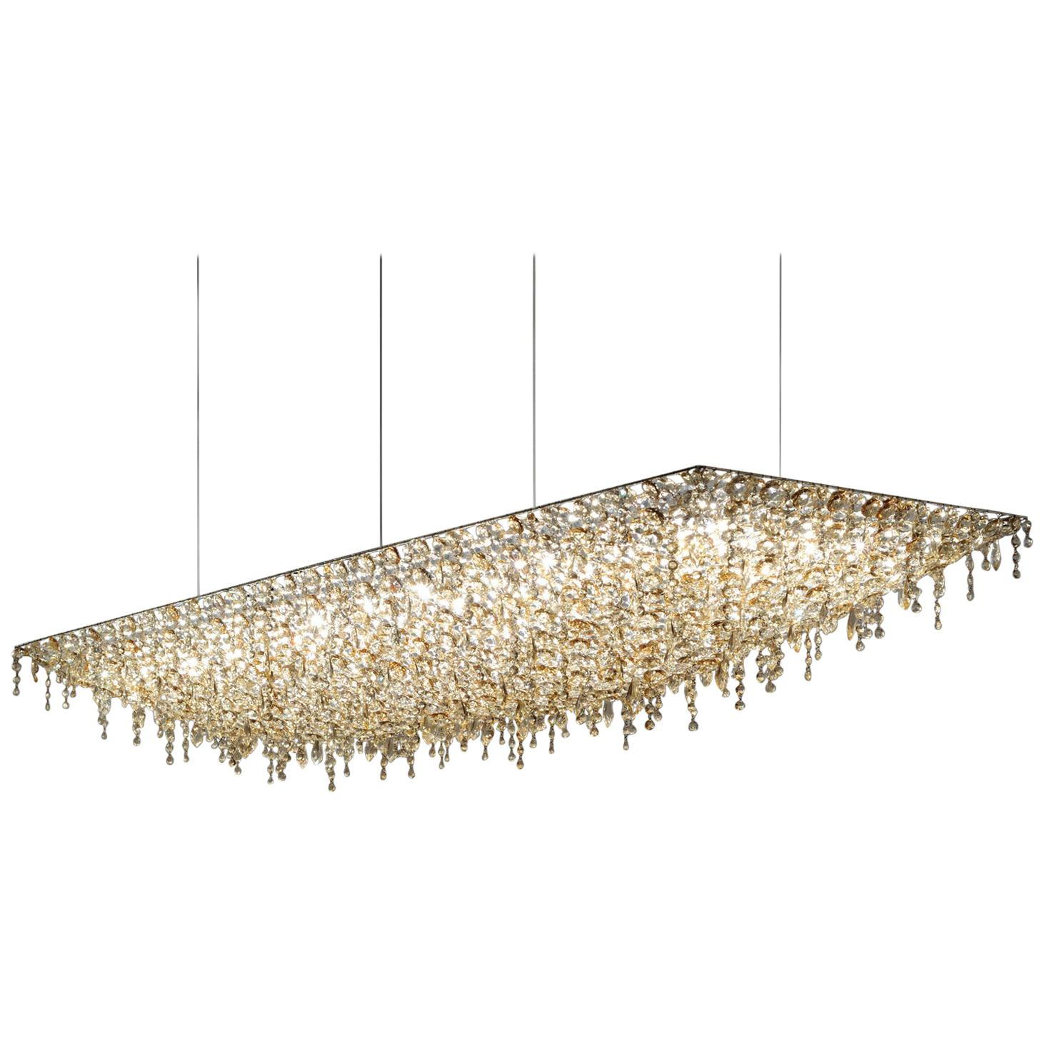 Lolli e Memmoli crystal Ugolino rectangular chandelier