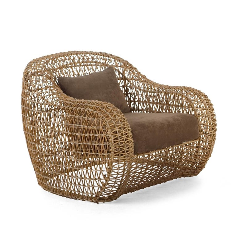 Hand-Crafted Lombok Armchair Indoor or Outdoor For Sale