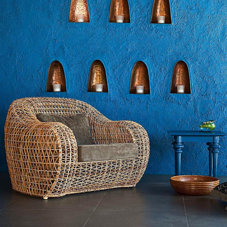 Contemporary Lombok Armchair Indoor or Outdoor For Sale