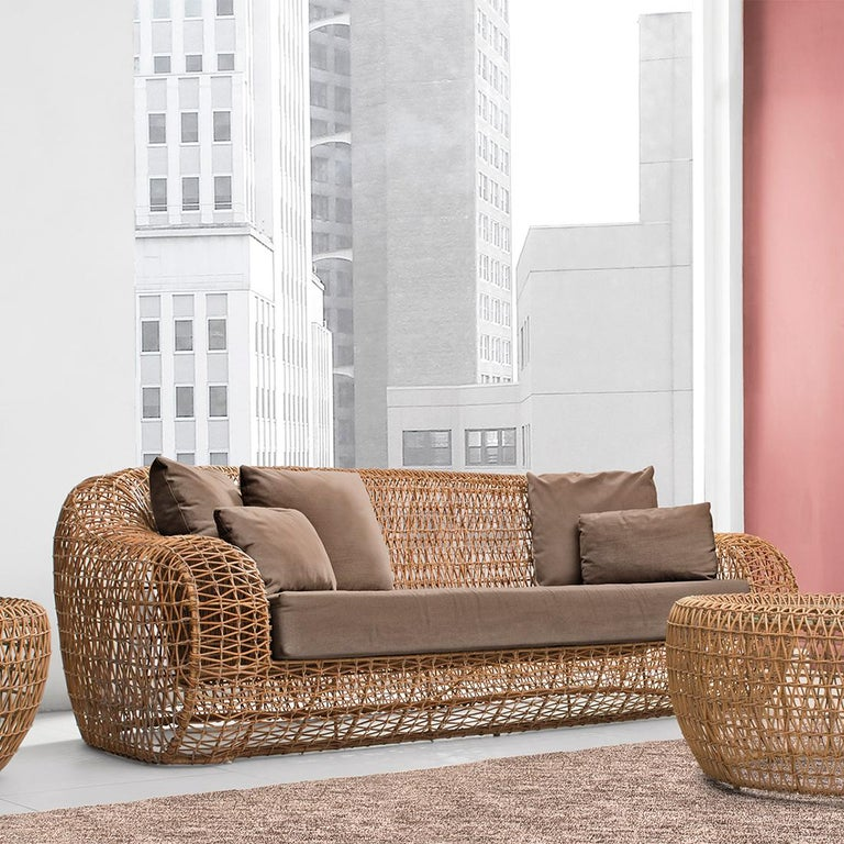 Hand-Crafted Lombok Big Sofa or Medium Sofa Indoor or Outdoor For Sale