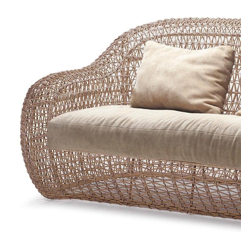 Contemporary Lombok Big Sofa or Medium Sofa Indoor or Outdoor For Sale