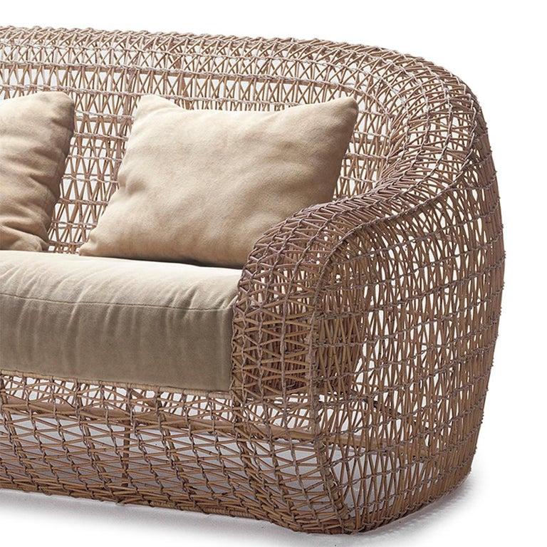 Steel Lombok Big Sofa or Medium Sofa Indoor or Outdoor For Sale