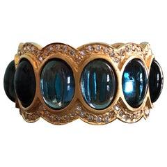 London Blue Topaz .52 Carat Diamond Eternity Band Ring by Lauren Harper