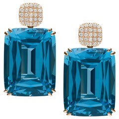London Blue Topaz Cushion Earrings