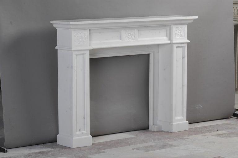 London fireplace in Bianca Carrara marble by Kreoo.