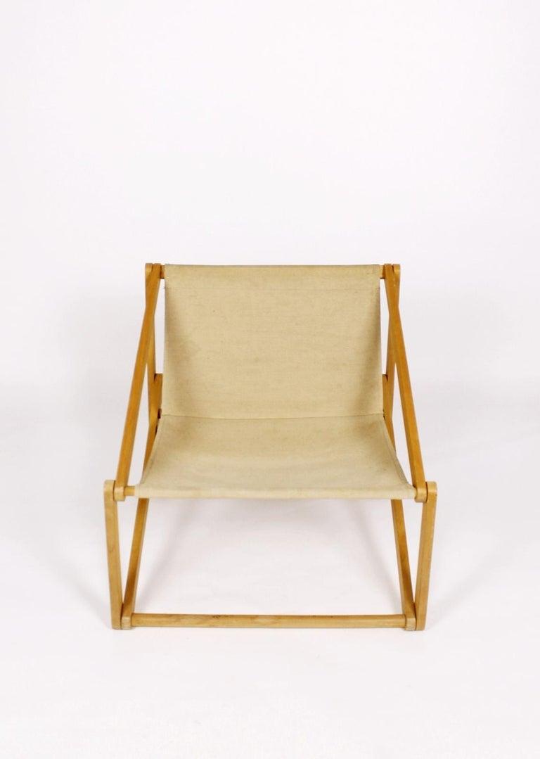 Canvas London Folding Chair Günter Sulz, Germany, 1971 For Sale