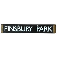 London Underground Tube Destination Board 1938 Finsbury Park, Euston