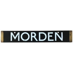 London Underground Tube Destination Board 1938 Morden, High Barnet