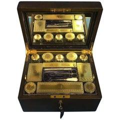 London Victorian 1863 Leather Vanity Box