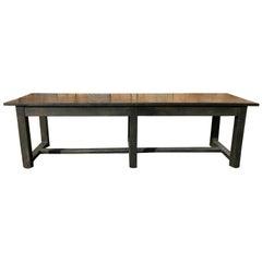 Long 19th Century Painted Farm Table