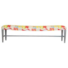 Long Accent Bench with Bowed Seat