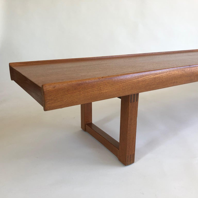 European Midcentury Long, Low and Heavy Scandinavian Bench or Coffee Table, circa 1960s