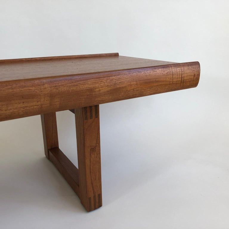 Midcentury Long, Low and Heavy Scandinavian Bench or Coffee Table, circa 1960s In Good Condition In London, GB