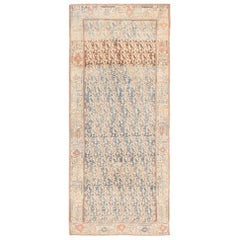 "Long and Narrow Antique Persian Paisley Design Malayer Rug. Size: 4' 3"" x 9' 7"""