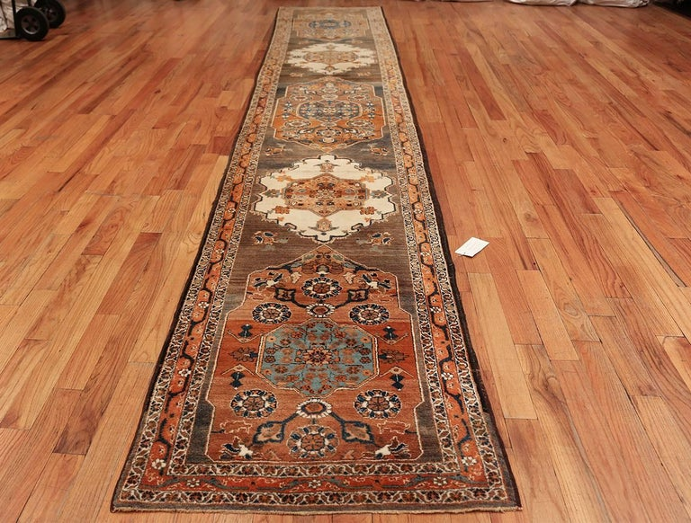 Long and Narrow Antique Persian Tabriz Runner Rug For Sale 4