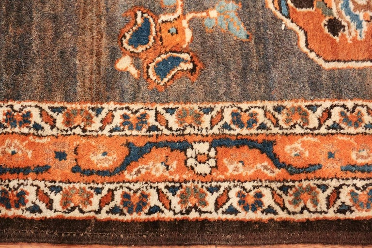 Hand-Knotted Long and Narrow Antique Persian Tabriz Runner Rug For Sale
