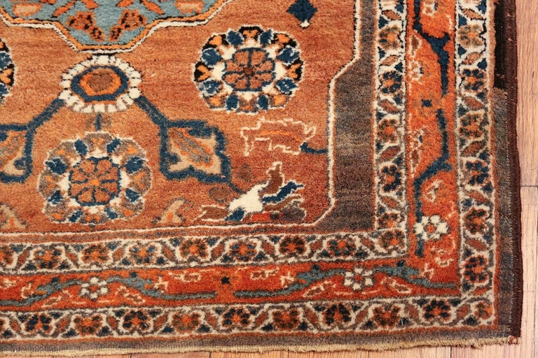 Long and Narrow Antique Persian Tabriz Runner Rug In Excellent Condition For Sale In New York, NY