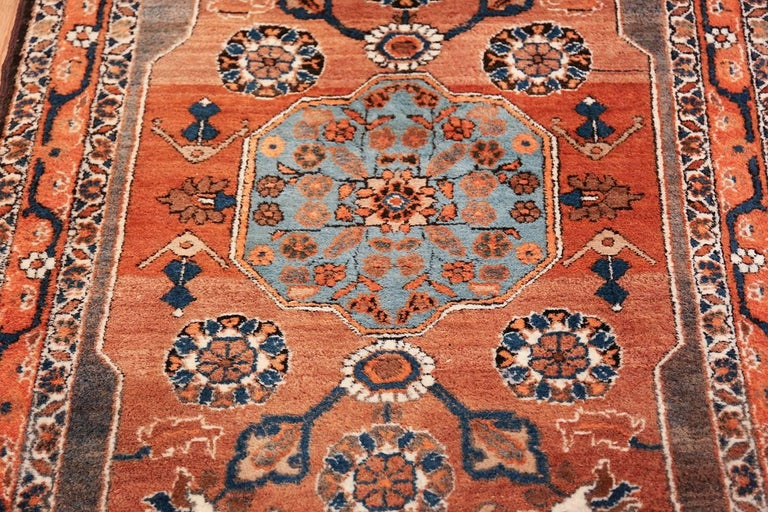 20th Century Long and Narrow Antique Persian Tabriz Runner Rug For Sale
