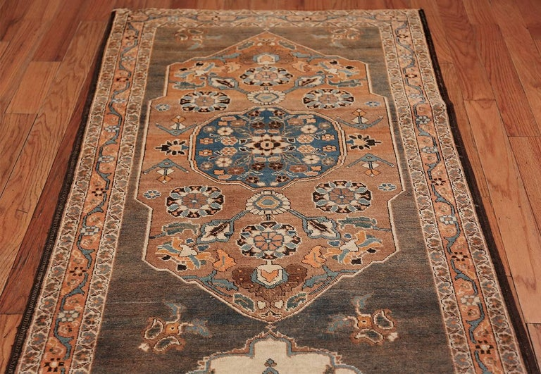 Long and Narrow Antique Persian Tabriz Runner Rug For Sale 1