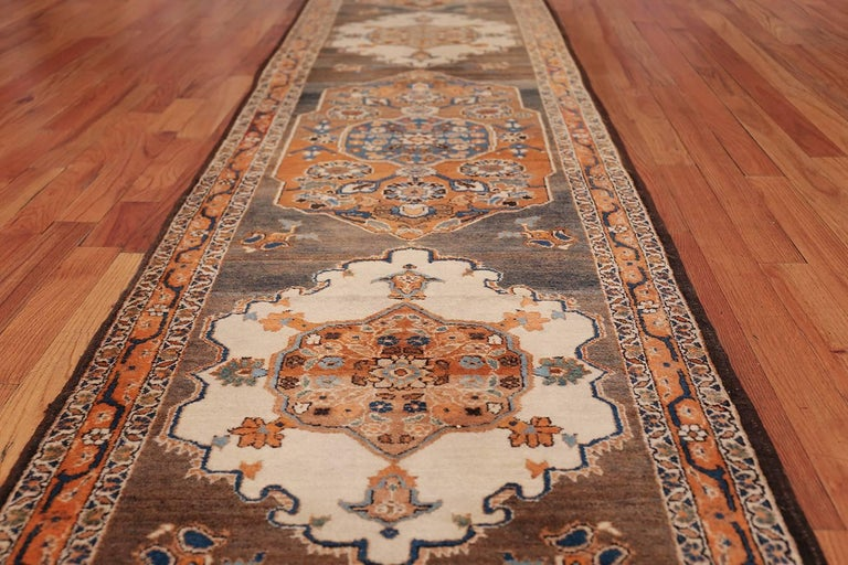 Long and Narrow Antique Persian Tabriz Runner Rug For Sale 3