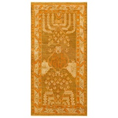 Long and Narrow Antique Turkish Oushak Rug