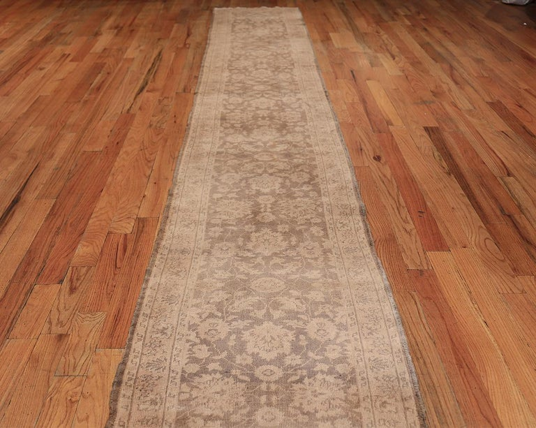 Beautiful long and narrow vintage Turkish Sivas runner, country of origin / rug type: Turkish rug, Date: circa 1940