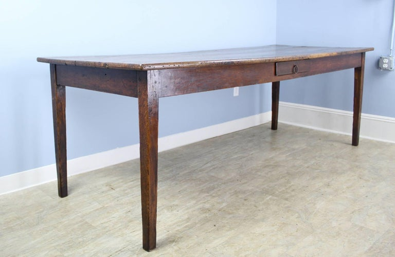 French Long Antique Oak Farm Table For Sale