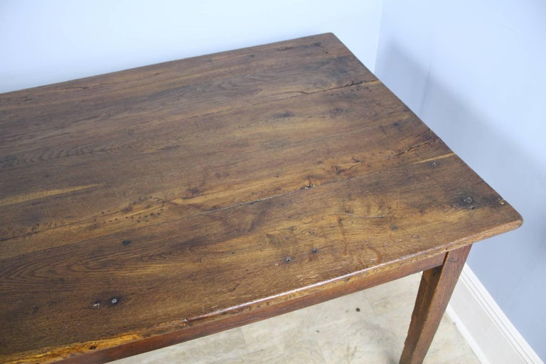 Long Antique Oak Farm Table For Sale 2