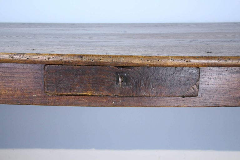 Long Antique Oak Farm Table For Sale 4