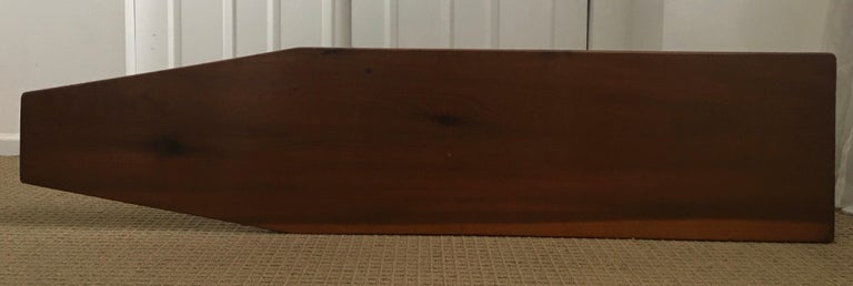 Mid-20th Century Long Asymmetrical Sculptural Danish Style Wood Coffee Table, Mid-Century Modern For Sale