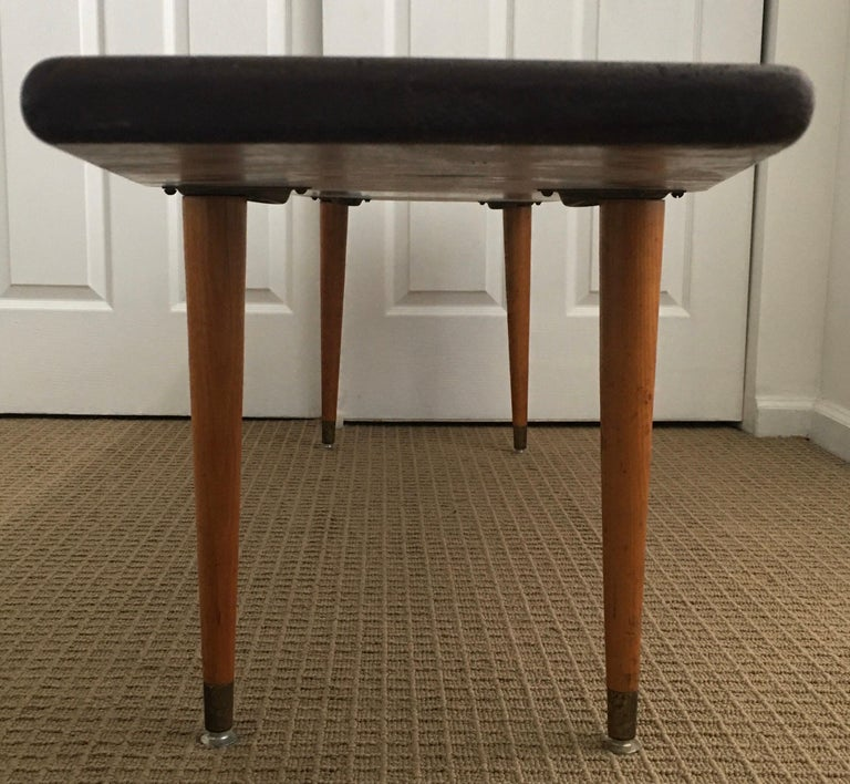 Long Asymmetrical Sculptural Danish Style Wood Coffee Table, Mid-Century Modern For Sale 2