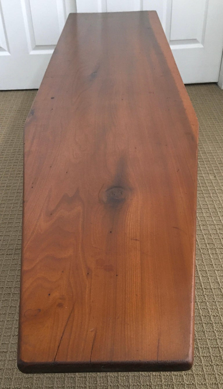 Long Asymmetrical Sculptural Danish Style Wood Coffee Table, Mid-Century Modern For Sale 5