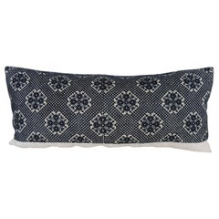 Long Black Fez Antique Textile Bolster Decorative Pillow