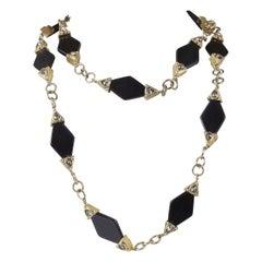 Long Black Necklace