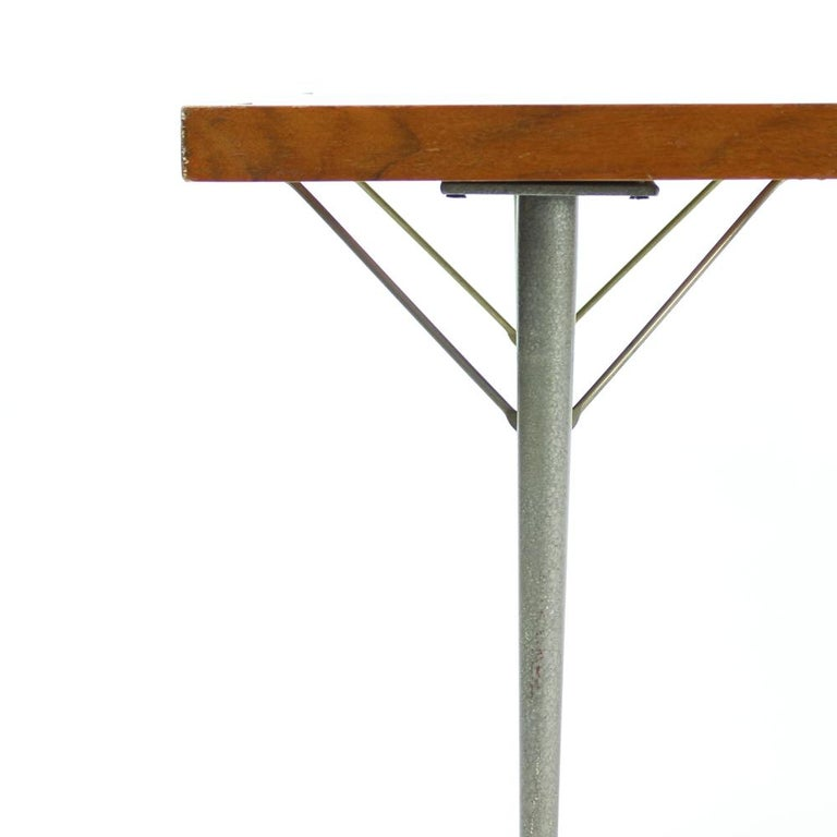 Long Coffee Table Legs: Long Console Coffee Table In Mahogany And Metal