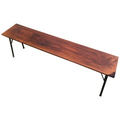 Long Danish Solid Rosewood Bench