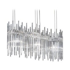 Long Diadema Chandelier K3 in Crystal by Vistosi