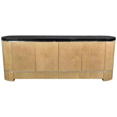 Long Ebonized Top Credenza
