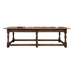 Long English Wood Coffee Table or Joint Stool Bench, circa 1900s-1930s