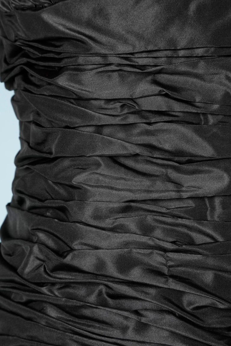Black Long evening taffetas dress Scaasi For Sale