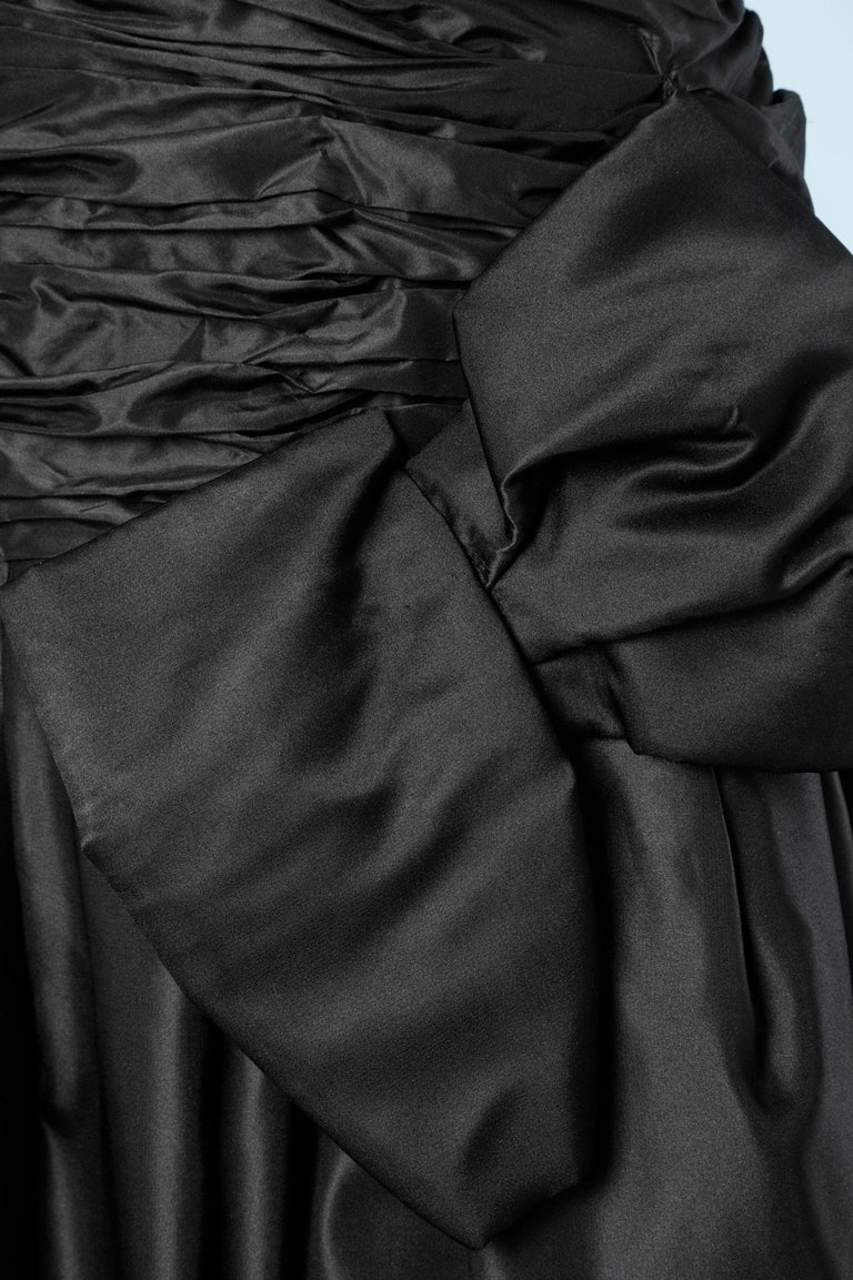 Long evening taffetas dress Scaasi In Excellent Condition For Sale In Saint-Ouen-Sur-Seine, FR