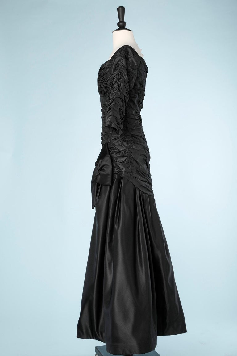Women's Long evening taffetas dress Scaasi For Sale