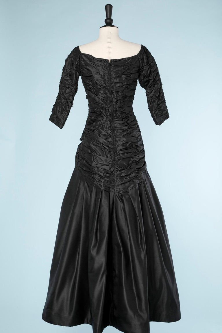 Long evening taffetas dress Scaasi For Sale 1