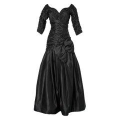 Long evening taffetas dress Scaasi