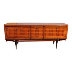 Long French Macassar Ebony Sideboard / Buffet / Bar /Credenzas