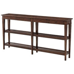 Long French Provincial Console Table
