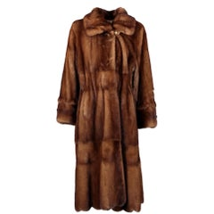 Long Fur Silk Lining Coat